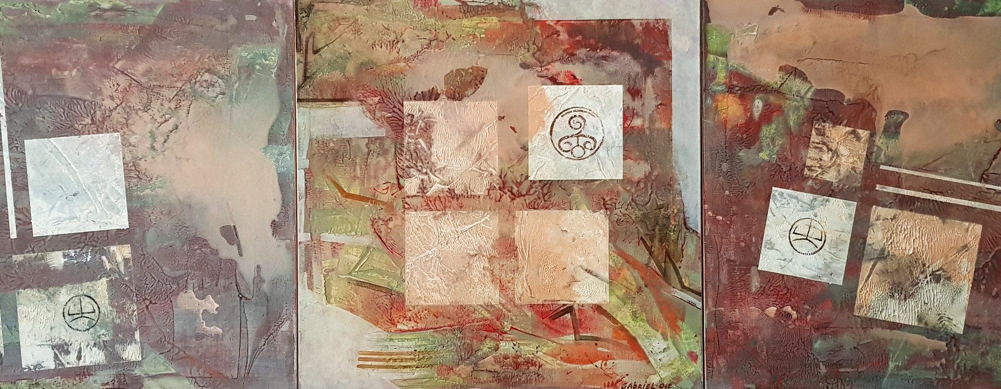 020 Duhovniat pat kam bojestvenata lubov acryloil on canvas 60x180cm