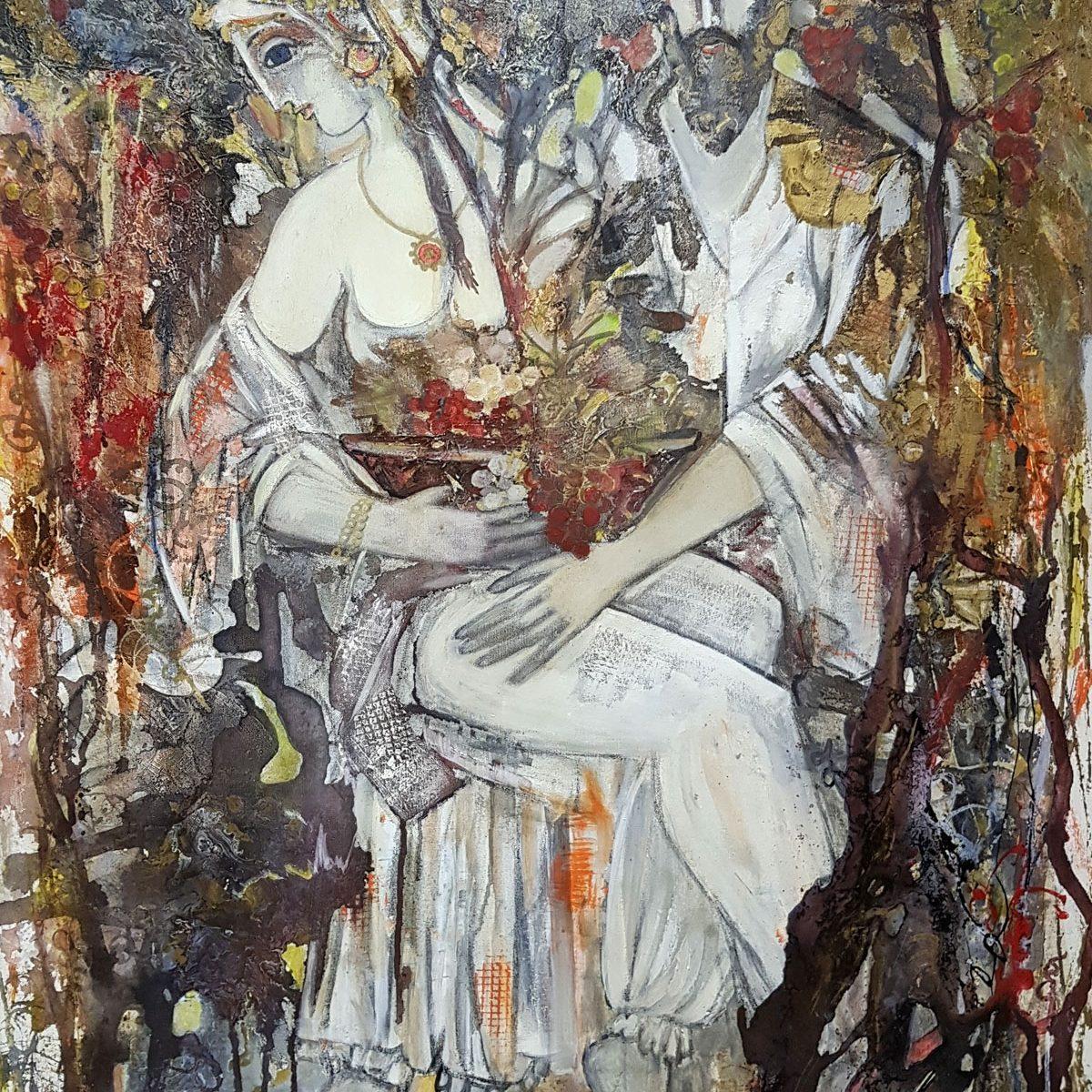 023 Po Omar Hayam acryloil on canvas 100x80cm