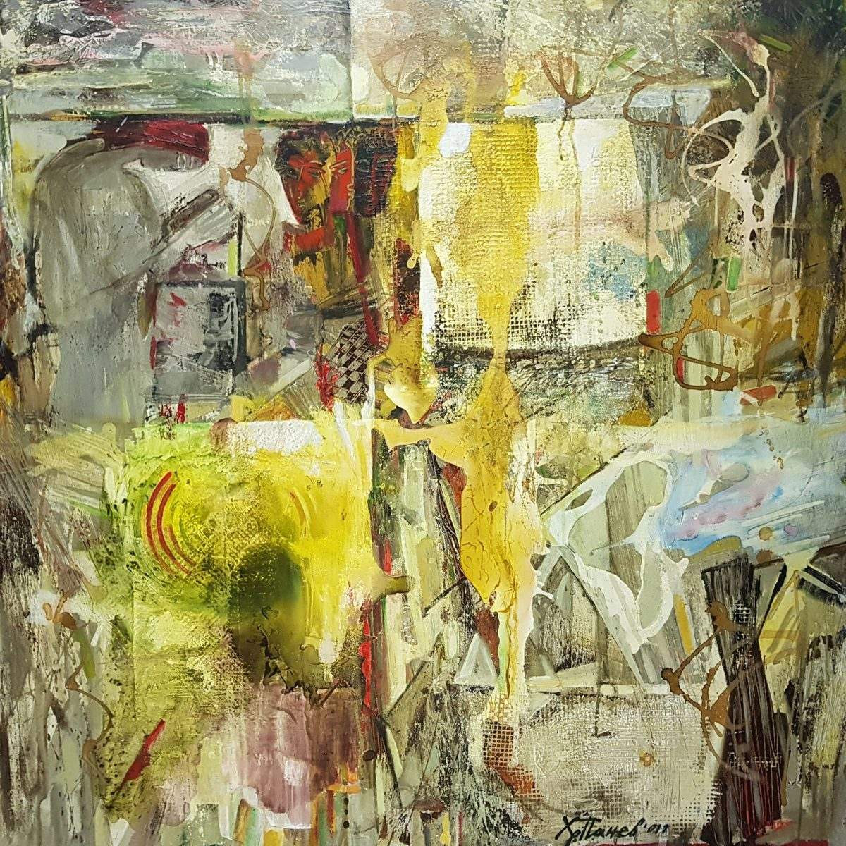 027 Plastove II acryloil on canvas 100x100cm