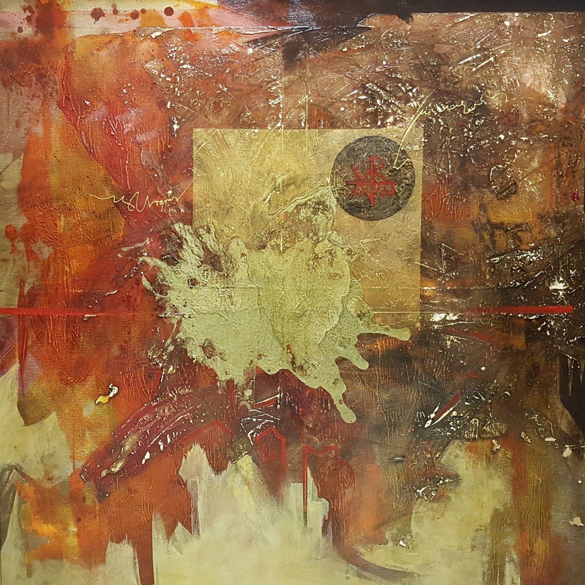 09 Satvorenie acryloil on canvas 100x100cm